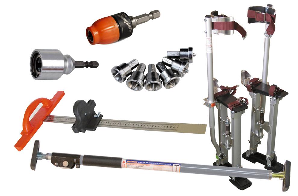 Drywall, ferramentas, acessorios, Graminho, porta bits, Par de andas, profissionais, Gesso, Placas, Aparafusar, andar, cortar, ferramenta, bons preços