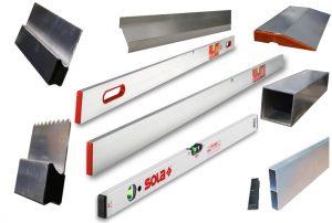 Régua, alumínio, Réguas, Biseladas, Régua, H, fechada, Réguas alumínio, ferramentas, construção, réguas betonilha, alisar, reboco, Nível, niveis, alisamento