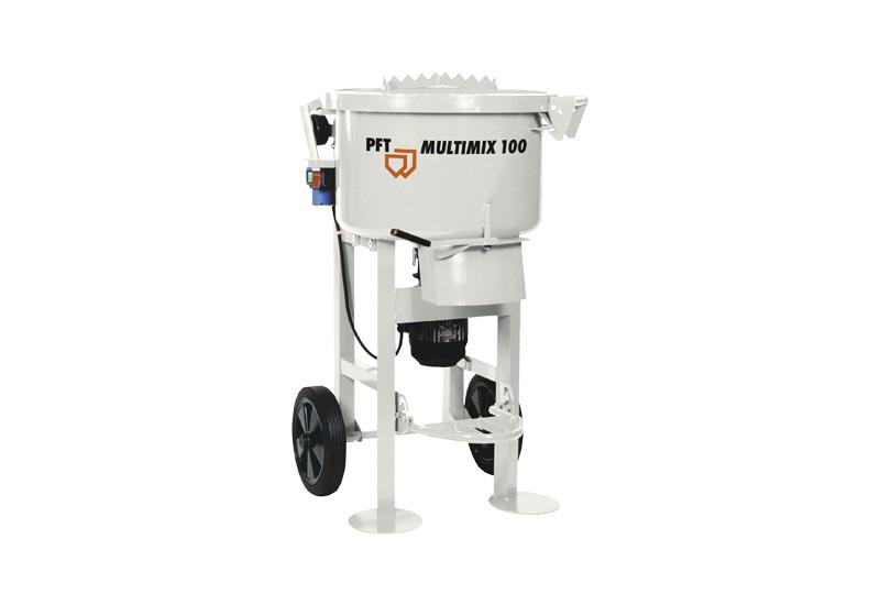 Multimix 100, Misturador, PFT, JCD, PFT Portugal, Misturadores Continuos, Gesso, PFT Multimix, Preços, Maquinas, Maquina de Betonilha, Cimento, Reboco