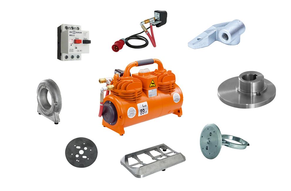 Compressores para Maquinas de projetar, compressores PFT, Máquinas, Peças para Compressores, Peças e acessorios, compressores, PFT, Kit pressostato, Piston, Biela, parafusos, base, válvulas, Interruptor, Compressor, Peças, Acessórios