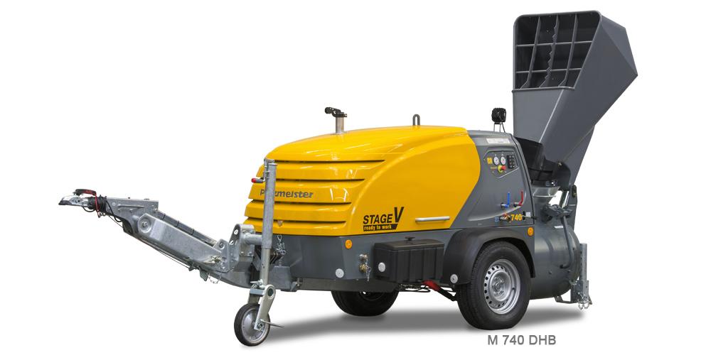 M 740 DHB, Mixokret M740, Putzmeister, Máquinas, M760, Transportadoras, Via Seca