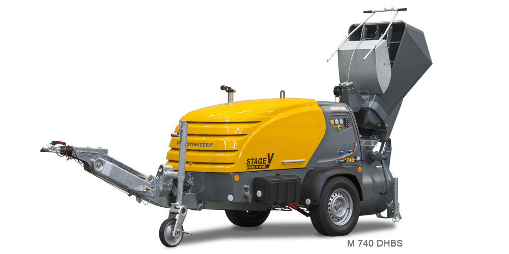 M 740 DHBS, Mixokret M740, Putzmeister, Máquinas, M760, Transportadoras, Via Seca