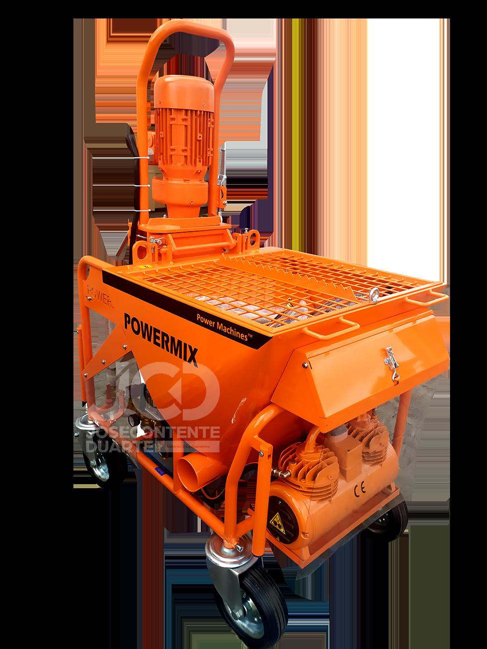 JCD, Powermix Euro, Maquinas de Projectar, Powermix em Portugal, Projetar Reboco, Projetar Gesso, Maquinas para construção, Chapisco, Mistura, Preços