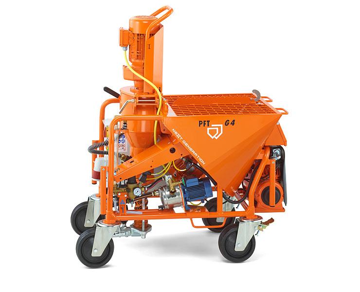 maquinas G4, PFT, reboco projectado, Imagens, 360, Maquina PFT G4, PFT-G4, Maquina de reboco, argamassas, projetadas, projeção, construção, Reboco projectado, Utiform Delta Mix, Utiform Quattro, Mixer Musitang