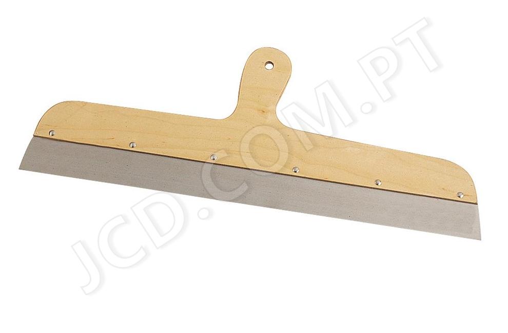 Espatulas com cabo de madeira, Espatulas para gesso, Lâmina em aço inox temperado, Espessura: 0,6 mm, cabo em madeira, Ferramentas, construção, bons preços, profissionais