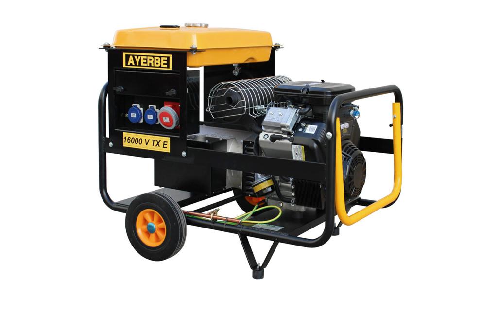 Gerador 16 KVA, Geradores a gasolina, AY-16000 V TX, Ayerbe, Novo, bons preços, Geradores Trifásicos, Venda, Portugal, Construção, Máquinas, Bons preços