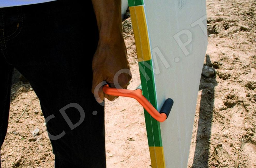 Duoplac, Transportadores de placas, gesso acartonado, transporte à mão, pegas de placas, Edma, Portugal