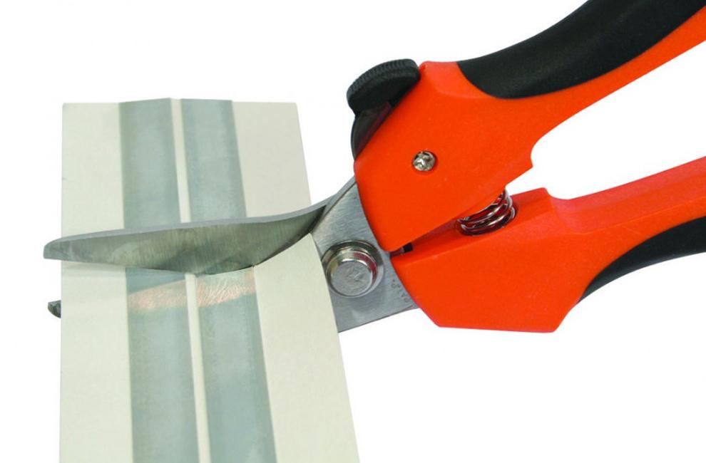 Tesoura corta tudo, Lamina Inox, Tesoura para cortar tudo, Ergonómica, Lâminas serrilhadas de 42 mm de corte, Tesouras anguladas