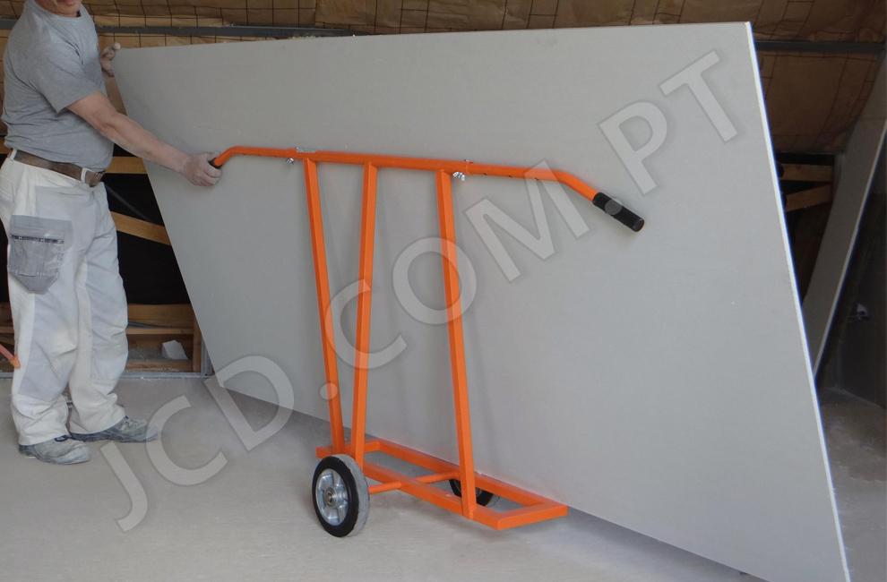 Transportadores de placas, Gesso cartonado, Transporte de placas de gesso, Com rodas, 2 rodas, transportadoras, Mondelin