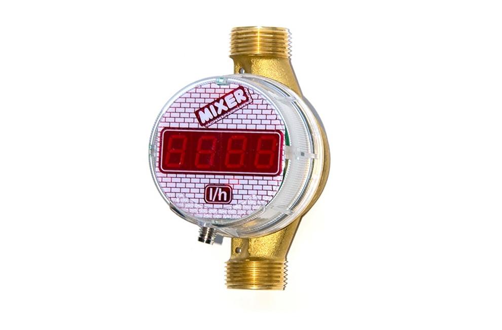 Fluxómetro Digital Mixer, Fluxometros, Peças, Água, Sistema Hidráulico, Maquinas de Projetar, Reboco, Maquinas, Peças, Acessórios, preços, Torneiras, Reguladores de pressão, Válvulasde água, Portugal