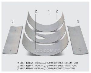 forras putzmeister, Forras, Forras em Aço, Forras para maquinas betonilha, Putzmeister, peças, acessorios, peças de desgaste, maquinas betonilha, maquinas, construção